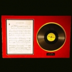 Carl Perkins Autographed Sheet Music and 78 RPM Record - Matted