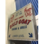 Original Billy Goat Tavern Double Sided Sign Made Famous in SNL!